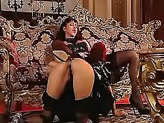 Maid licks pussy of lesbo mistress
