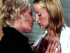 Lesbo teacher seduces innocent babe